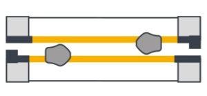 Роз'ємна з двома замками і двома вузлами роз'єму,